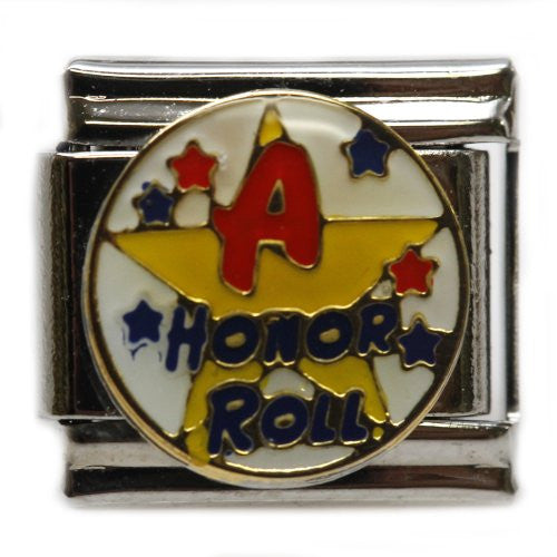 A Honor Roll on Star Italian Link Bracelet Charm - Sexy Sparkles Fashion Jewelry - 1