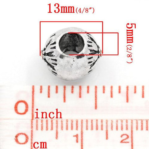 Flower Pattern Bead Spacer for Snake Chain Bracelets (Topaz) - Sexy Sparkles Fashion Jewelry - 2