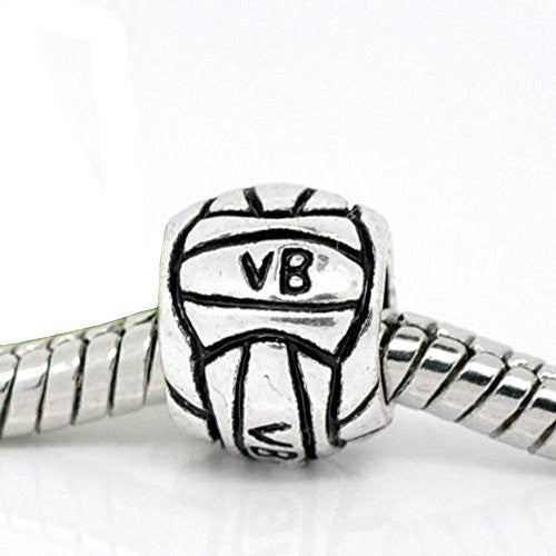 Volley ball Charm for European Snake Chain Charm Bracelet