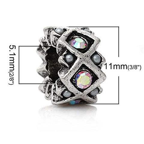 AB Crystal European Bead Compatible for Most European Snake Chain Charm Bracelet - Sexy Sparkles Fashion Jewelry - 3