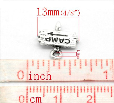 Camp Fingerpost Bracelet Necklace Charm Pendant - Sexy Sparkles Fashion Jewelry - 3