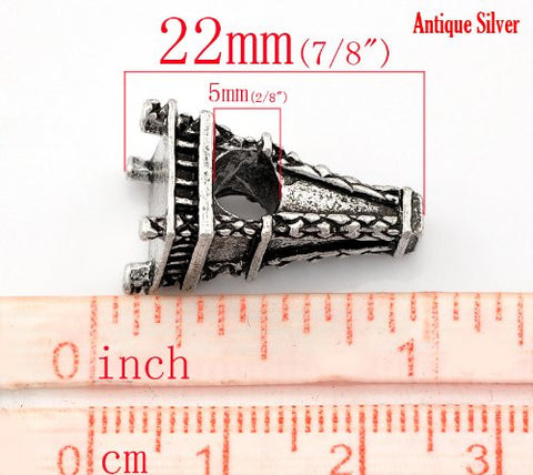 Paris Eiffel Tower Charm European Bead Compatible for Most European Snake Chain Bracelet - Sexy Sparkles Fashion Jewelry - 3