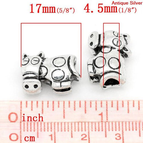 Cow Bead European Bead Compatible for Most European Snake Chain Charm Bracelet - Sexy Sparkles Fashion Jewelry - 3