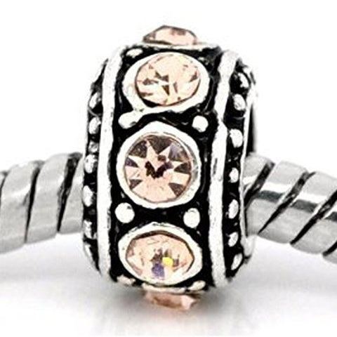 Birthstone Spacer Bead Charm (November Topaz) - Sexy Sparkles Fashion Jewelry - 1