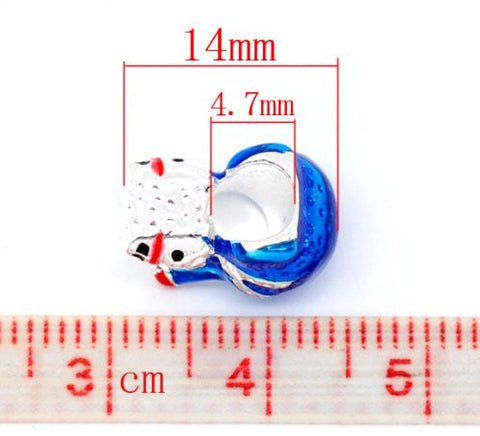 Christmas SnowmanCharm European Bead Compatible for Most European Snake Chain Bracelet - Sexy Sparkles Fashion Jewelry - 2