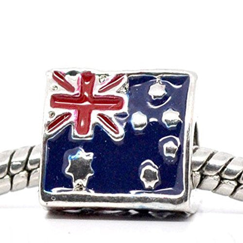 3 Sided Triangle Australia Flag Bead European Bead Compatible for Most European Snake Chain Charm Bracelet - Sexy Sparkles Fashion Jewelry
