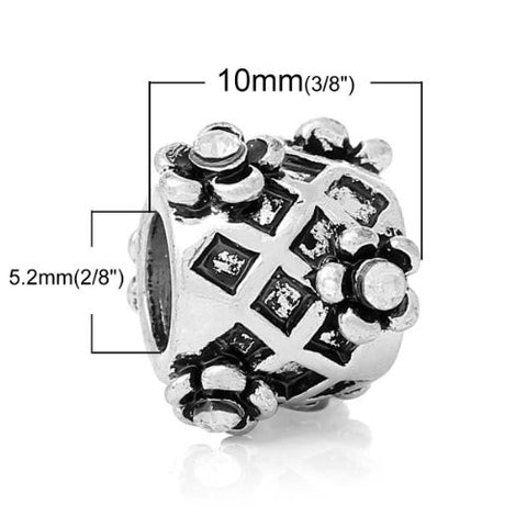 April Birthstone Charm Bead W/Clear  Crystals - Sexy Sparkles Fashion Jewelry - 2