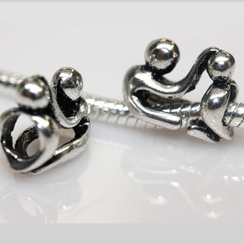 Father and Son Charm European Bead Compatible for Most European Snake Chain Bracelet - Sexy Sparkles Fashion Jewelry - 1