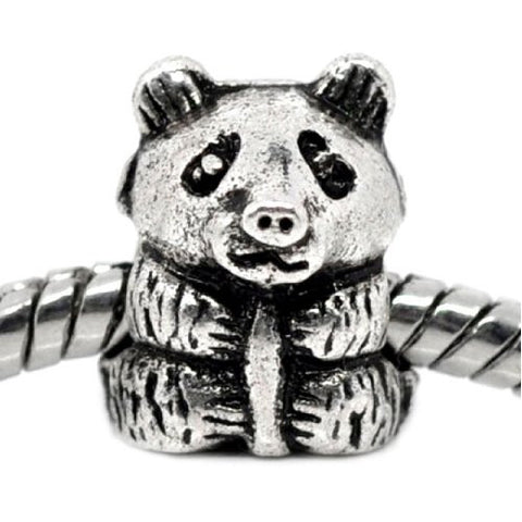 Baby Panda Bead Charm Spacer For Snake Chain Charm Bracelet - Sexy Sparkles Fashion Jewelry - 1