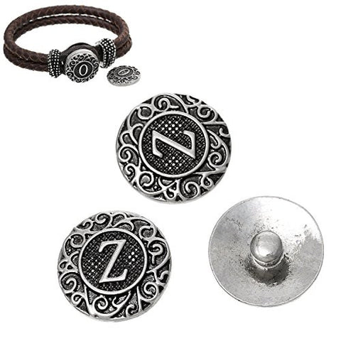 Alphabet Letter Z Chunk Snap Button or Pendant Fits Snaps Chunk Bracelet - Sexy Sparkles Fashion Jewelry - 2