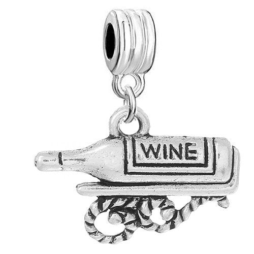 Wine Bottle Bead Compatible for Most European Snake Chain Bracelet