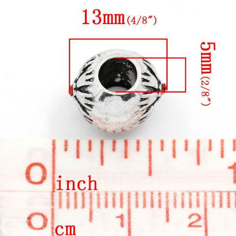 Flower Pattern Bead Spacer for Snake Chain Bracelets (Red) - Sexy Sparkles Fashion Jewelry - 2