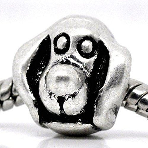 Dog Charm Bead for European Snake Chain Charm Bracelet