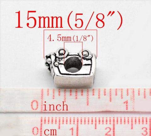Peace Volkswagon Van Bead Charm Spacer for Snake Chain Charm Bracelet - Sexy Sparkles Fashion Jewelry - 3