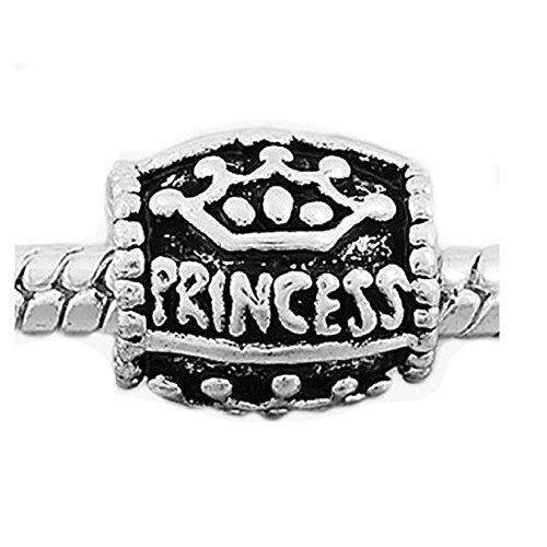 Princess Charm European Bead Compatible for Most European Snake Chain Bracelet