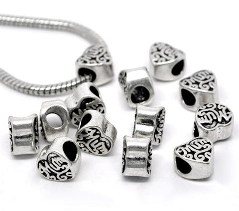 Mum Heart Charm European Bead Compatible for Most European Snake Chain Braceletss - Sexy Sparkles Fashion Jewelry - 3