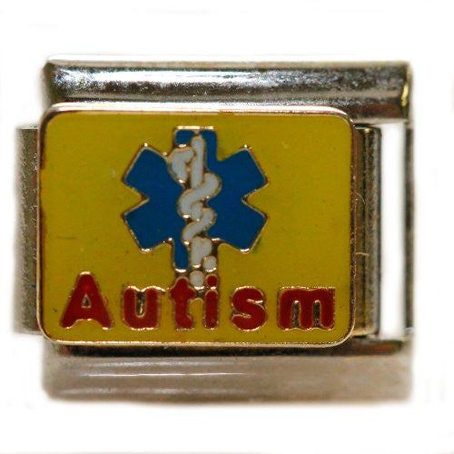 Autism with Medical Sign Italian Charm Bracelet Link - Sexy Sparkles Fashion Jewelry