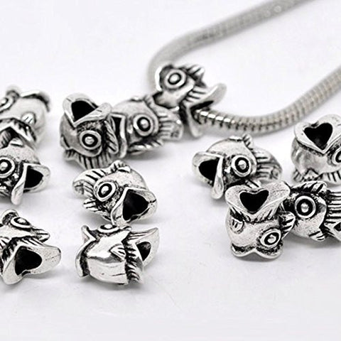 Fish Charm Spacer European Bead Compatible for Most European Snake Chain Bracelet - Sexy Sparkles Fashion Jewelry - 3
