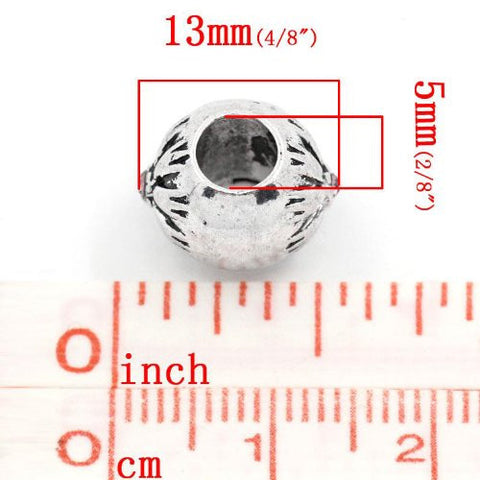 Flower Pattern Bead Spacer for Snake Chain Bracelets (Amethyst) - Sexy Sparkles Fashion Jewelry - 2
