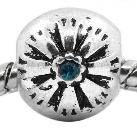 Flower Pattern Bead Spacer for Snake Chain Bracelets (Blue) - Sexy Sparkles Fashion Jewelry - 4