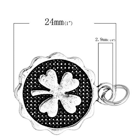 Four Leaf Clover Charm Pendant for Necklace - Sexy Sparkles Fashion Jewelry - 2