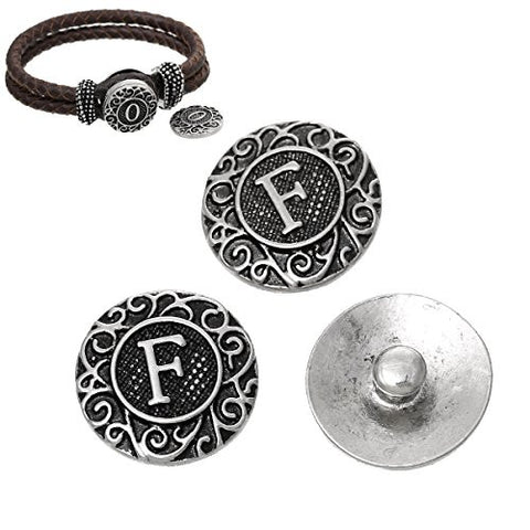 Alphabet Letter F Chunk Snap Button or Pendant Fits Snaps Chunk Bracelet - Sexy Sparkles Fashion Jewelry - 2