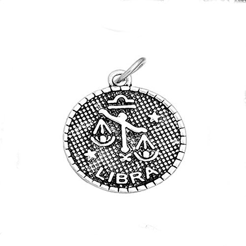 Round Zodiac Charm Pendant for Necklace