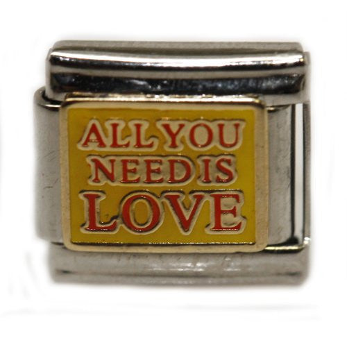 All You Need is Love Italian Link Bracelet Charm