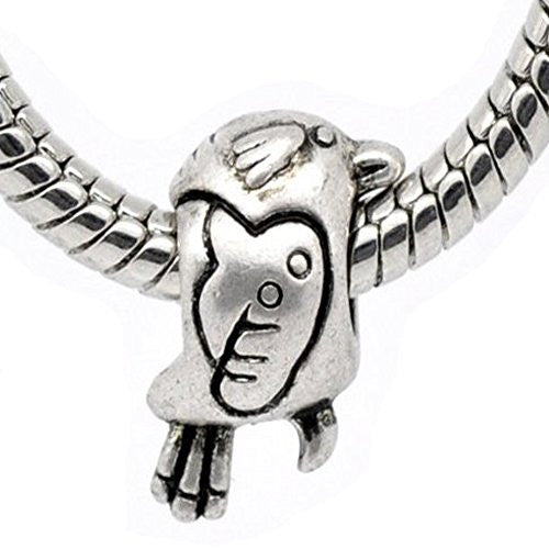 Slide on Bird Charms For European Snake Chain Charm Bracelets