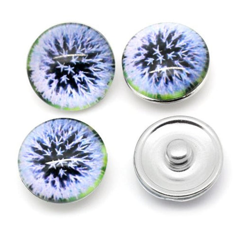 Dandelion Design Glass Chunk Charm Button Fits Chunk Bracelet - Sexy Sparkles Fashion Jewelry - 3