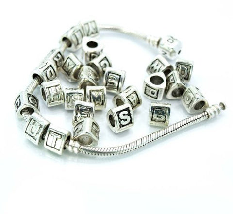 "Alphabet Spacer Charm Beads Letter Triangle Letter ""W"" for Snake Chain Bracelet - Sexy Sparkles Fashion Jewelry - 2"