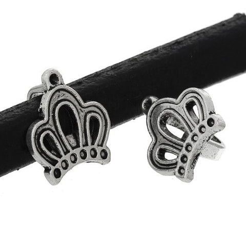 Charm Beads for Leather Bracelet/watch Bands or Wrist Bands (Crown) - Sexy Sparkles Fashion Jewelry - 3