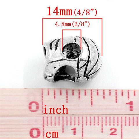 Helmet Spacer European Bead Compatible for Most European Snake Chain Bracelet - Sexy Sparkles Fashion Jewelry - 2
