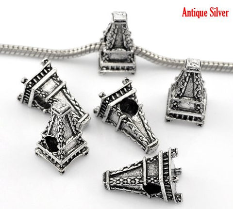 Paris Eiffel Tower Charm European Bead Compatible for Most European Snake Chain Bracelet - Sexy Sparkles Fashion Jewelry - 2
