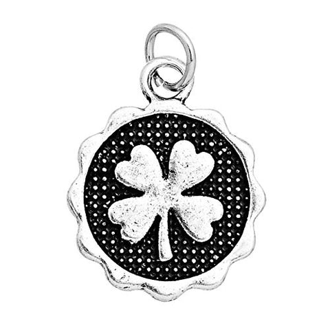 Four Leaf Clover Charm Pendant for Necklace - Sexy Sparkles Fashion Jewelry - 1