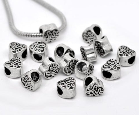 Sis or Sister Charm Spacer Beads For Snake Chain Charm Bracelet - Sexy Sparkles Fashion Jewelry - 2