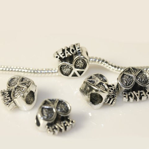 Peace Heart European Bead Compatible for Most European Snake Chain Charm Bracelet - Sexy Sparkles Fashion Jewelry - 2