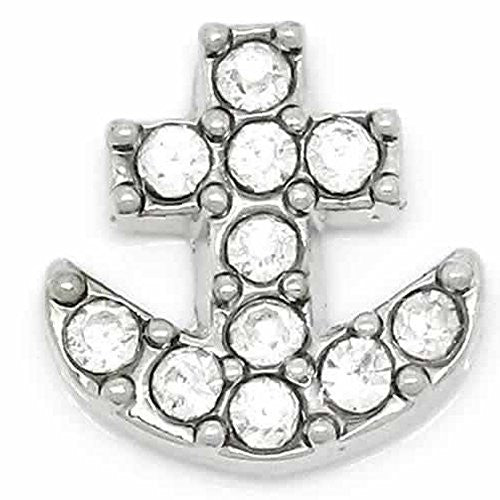 Anchor Floating Charm For Glass Living Memory Lockets - Sexy Sparkles Fashion Jewelry - 1