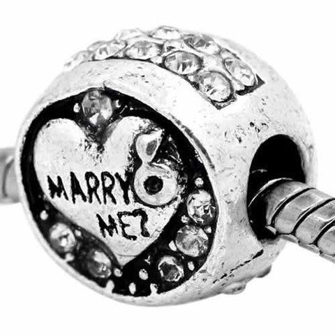 Marry Me? Charm European Bead Compatible for Most European Snake Chain Bracelet - Sexy Sparkles Fashion Jewelry - 4