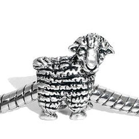 Sheep Animal Bead Spacer for Snake Chain Charm Bracelet - Sexy Sparkles Fashion Jewelry - 1