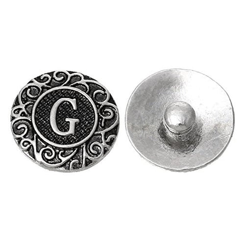 Alphabet Letter G Chunk Snap Button or Pendant Fits Snaps Chunk Bracelet - Sexy Sparkles Fashion Jewelry - 1