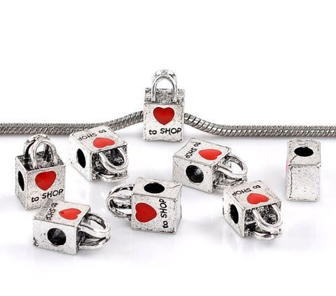 Love to Shop Charm European Bead Compatible for Most European Snake Chain Bracelet - Sexy Sparkles Fashion Jewelry - 2