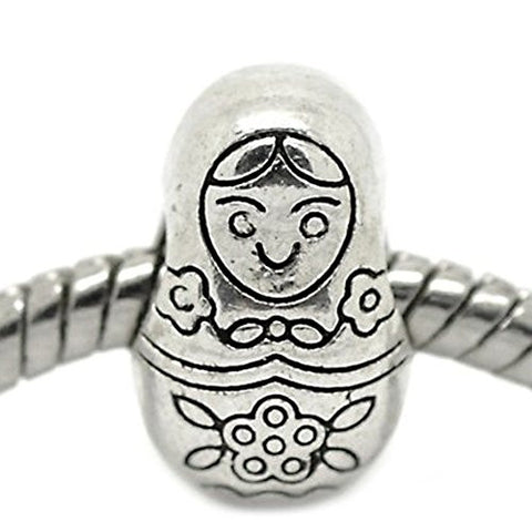 Babushka Doll Russian European Bead Compatible for Most European Snake Chain Bracelet - Sexy Sparkles Fashion Jewelry - 1