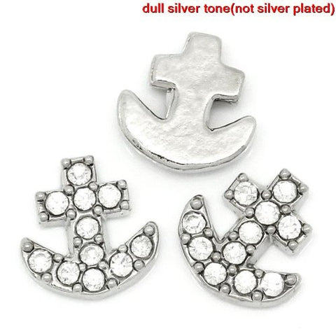 Anchor Floating Charm For Glass Living Memory Lockets - Sexy Sparkles Fashion Jewelry - 3