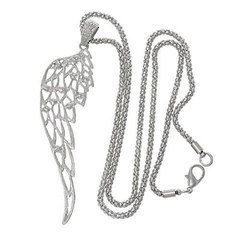 Fashion Jewelry Necklace Anel Wing Hollow with Clear Rhinestone with Lobster Clasp - Sexy Sparkles Fashion Jewelry - 2