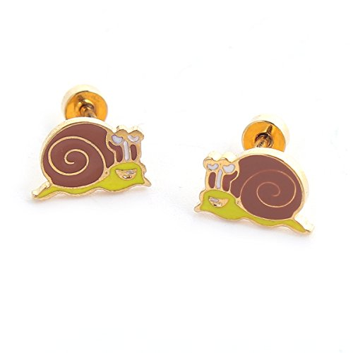 SEXY SPARKLES stainless steel Snail stud earrings for girls teens women Hypoallergenic jewelry