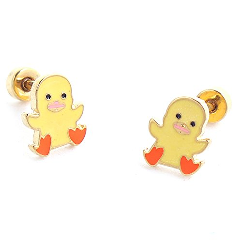 SEXY SPARKLES stainless steel Duck stud earrings for girls teens women Hypoallergenic jewelry