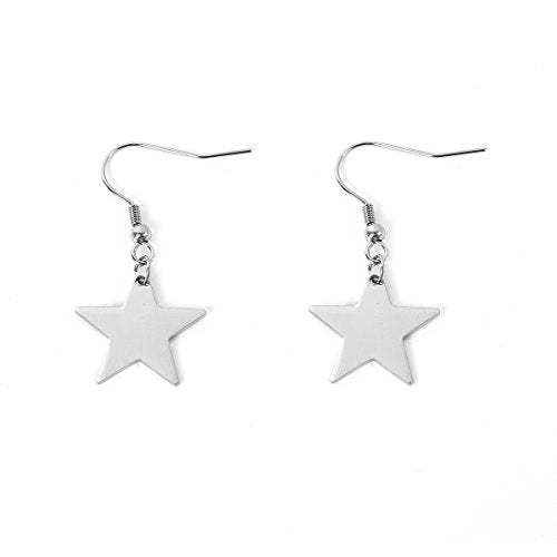 SEXY SPARKLES stainless steel Star Danging earrings for girls teens women Hypoallergenic jewelry