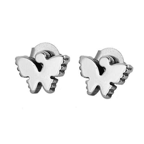 SEXY SPARKLES stainless steel Butterfly stud earrings for girls teens women Hypoallergenic jewelry