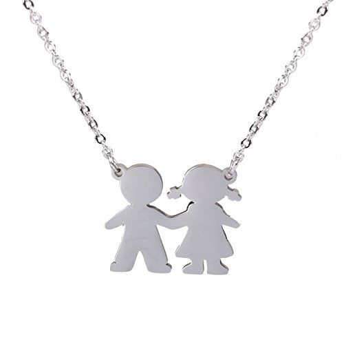 Sexy Sparkles Stainless Steel Boy & Girl or Twin Boys Sons Necklace & Pendant to choose